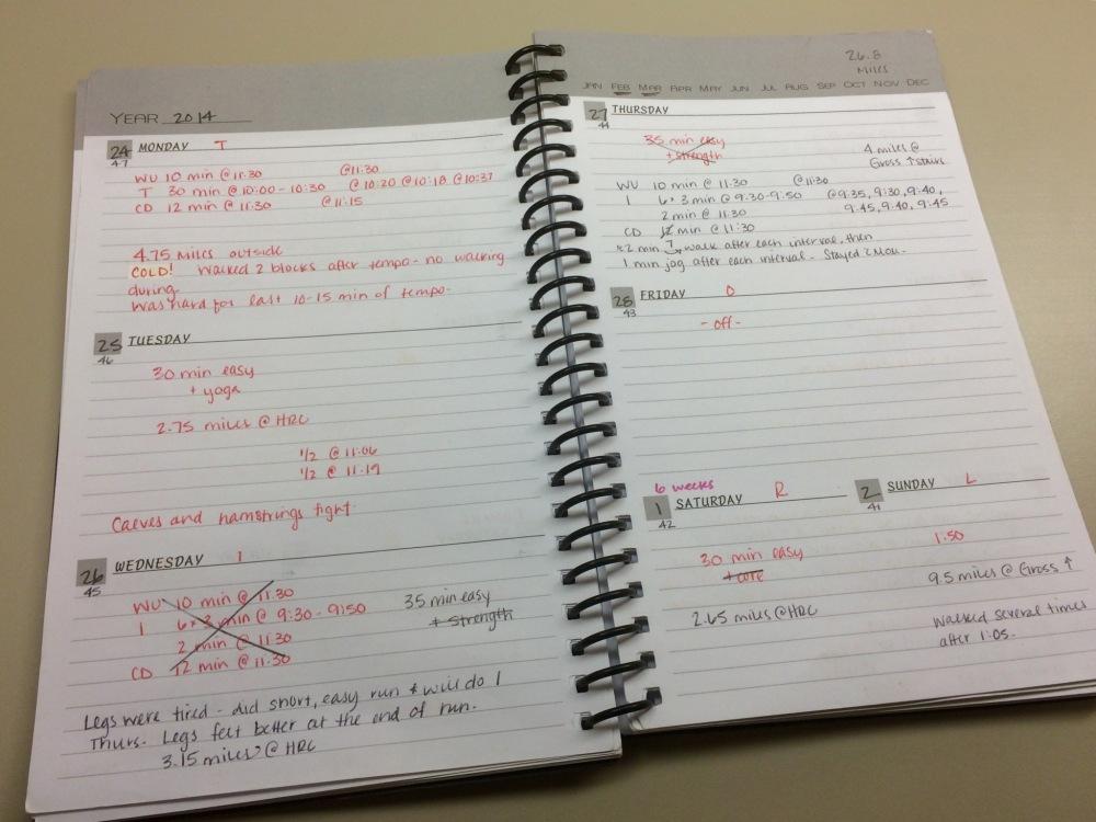 Half Marathon Training Plan (1/2)